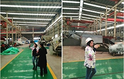 The visit of Russian customer for municipal waste sorting machine